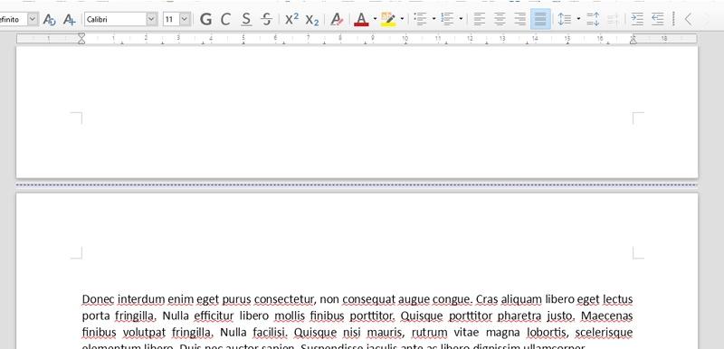 Interruzione di pagina in LibreOffice