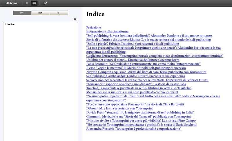 indice ebook in formato html