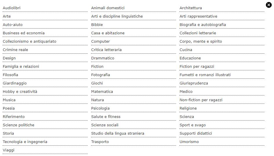 quali sono i generi di un libro