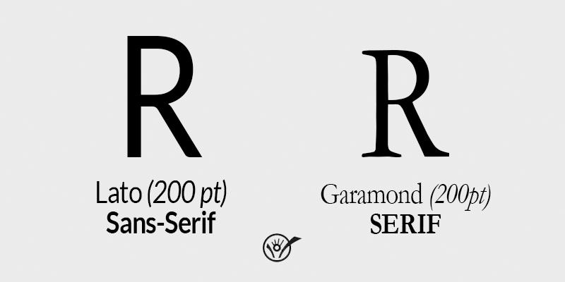 differenza font Serif vs. Sans-Serif