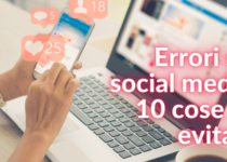 errori da non fare sui social